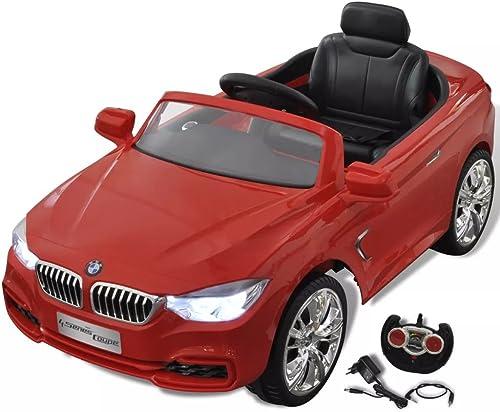 Arichtop Compatible for BMW Elektroauto mit Fernbedienung Kinderfahrzeug Rot