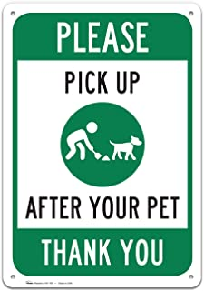 Clean Up After Your Dog Sign, Large Rust Free 10x14