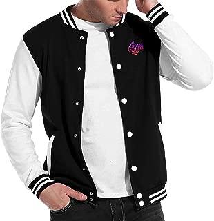 Unisex Pattern Baseball Jacket Swag Guys Sports Varsity Sweatshirt Coat with Long Sleeve Banded Collar