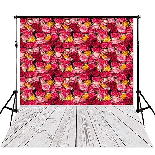 QERNTPEY Escenarios de Fotos Telón de Fondo Flores de Rose Fotografía Atrezzo Photo Studio Muchacha de…
