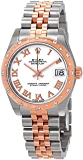 Rolex Datejust 31 White Dial Ladies Steel and 18kt Everose Gold Jubilee Watch 178341WRJ