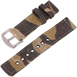 Canvas Watch Strap for Men and Women 2 Piece NATO Straps Premium Watch Bands Replacement Width 18mm 20mm 22mm 24mm