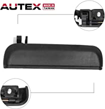 AUTEX Door Handle Exterior Outer Front Right Passenger Side Black Compatible with Toyota Tercel 1995 1996 1997 1998 1999 Door Handle 77786 6921016091 TO1311103