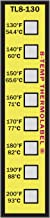 8-Temp Thermolabel 130-200°F Temperature Label Pack of 16 Labels