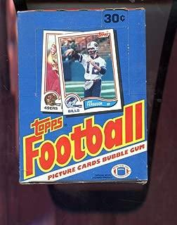 1982 Topps Football Card Set Wax Pack Box Joe Montana Ronnie Lott