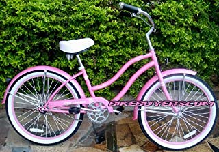 Micargi Tivola 1-speed 24 for women (Pink), Beach Cruiser Bike Schwinn Nirve Firmstrong Style by Micargi