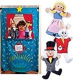 HearthSong Three Alice in Wonderland Puppets Plus Doorway Puppet Theater