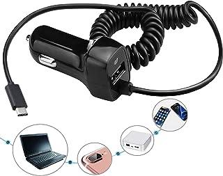شاحن سيارة USB نوع C لهاتف Samsung Galaxy S2، محول شاحن مزدوج المنفذ قابل للسحب السريع للغاية من Carhope لجهاز Samsung S10...
