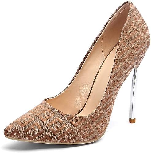 Escarpins Tissu Talon Aiguille Sexy Bout Pointu MWOOOK-921 12cm High Heel Chaussures - Grande Taille
