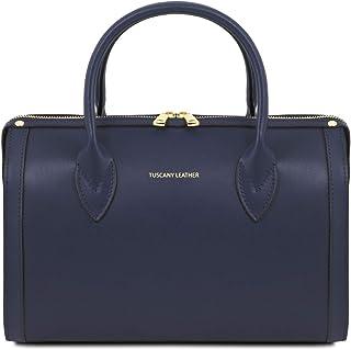 Tuscany Leather Elena Leather Duffle Bag - TL141829 (Dark Blue)