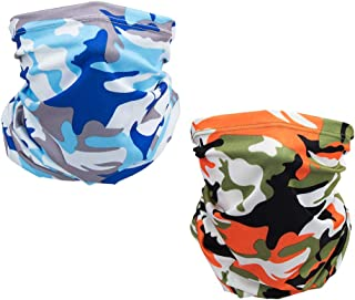 Face Scarf Cover Mask,2 Piece Sun Dust Bandanas for Fishing Motorcycling Running