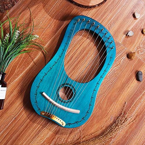 Dongbin Lyre Harp 16 String, Mahagoni 16 Saiten 16 Töne Lyra Harfe Tragbar Stabile Klangqualität Holzharfe Saiteninstrument,A