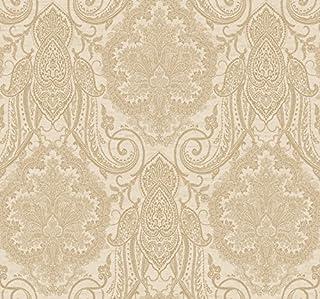 Ronald Redding by York Wallcoverings EK4126 18 Karat II Laurens Wallpaper; Metallic Gold/Cream