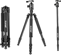 Zomei Z888C Professional Portable Metallic Color Carbon Fiber Tripod & Ball Head Compact Travel for All Canon Sony, Nikon, Samsung, Panasonic, Olympus, Kodak, Fuji, Cameras and Video Camera (Black)