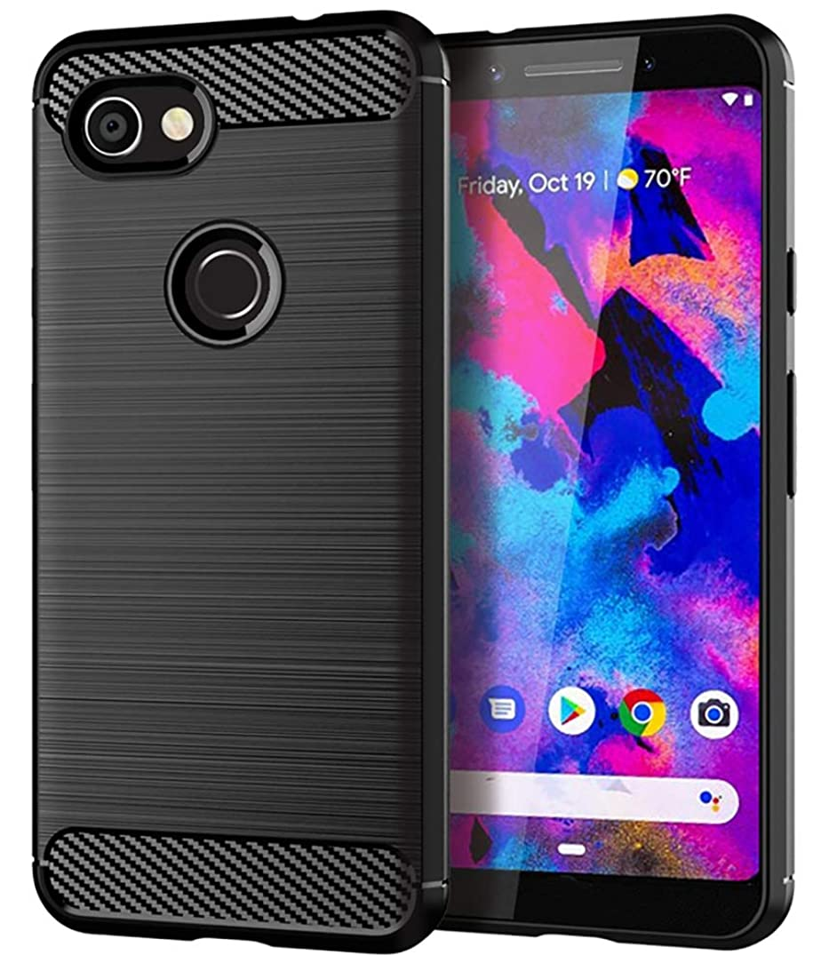 Google Pixel 3a XL Case,Yiakeng Shock Resistant Soft Glitter TPU Anti-Fingerprint Full Protective Phone Cases for Google Pixel 3a XL 6