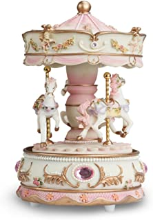 Dragon-Hub Music Box 3-Horse Carousel Gifts for Kids Children Girls Christmas Birthday Valentine's Gifts Decorations Melody Carrying You from Castle in The Sky (Laputa)