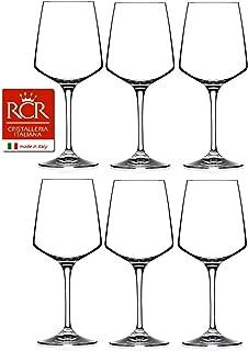 RCR Cristalleria Italiana Aria Collection 6 Piece Crystal Wine Glass Set (White Wine (15.5 oz))