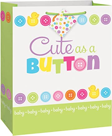 Cute as a Button Baby Shower Large Gift Bag