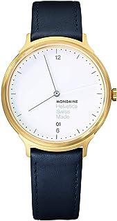 Mondaine - Helvetica Light - Reloj de Cuero Casual para Hombre y Mujer, MH1.L2211.LB, 38 MM