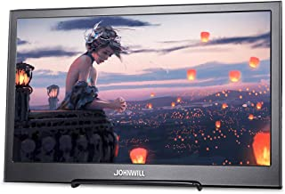 JOHNWILL Portable Monitor for Laptop 13.3 inch Mobile IPS Monitor 1920x1080P Widescreen Monitor HDMI/USB Speaker Built-in Raspberry Pi PS4 Monitor Portable Display Gaming Monitor PC Monitors