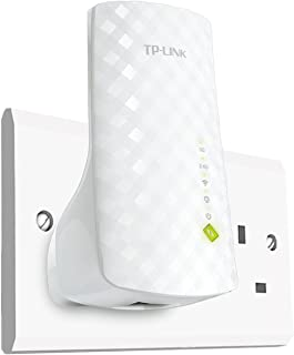 Tp-Link Re200 Ac750 Universal Dual Band Range Extender, Broadband/Wi-Fi Extender, Wi-Fi Booster/Hotspot With Ethernet Port, Plug And Play, Smart Signal Indicator, Uk Plug