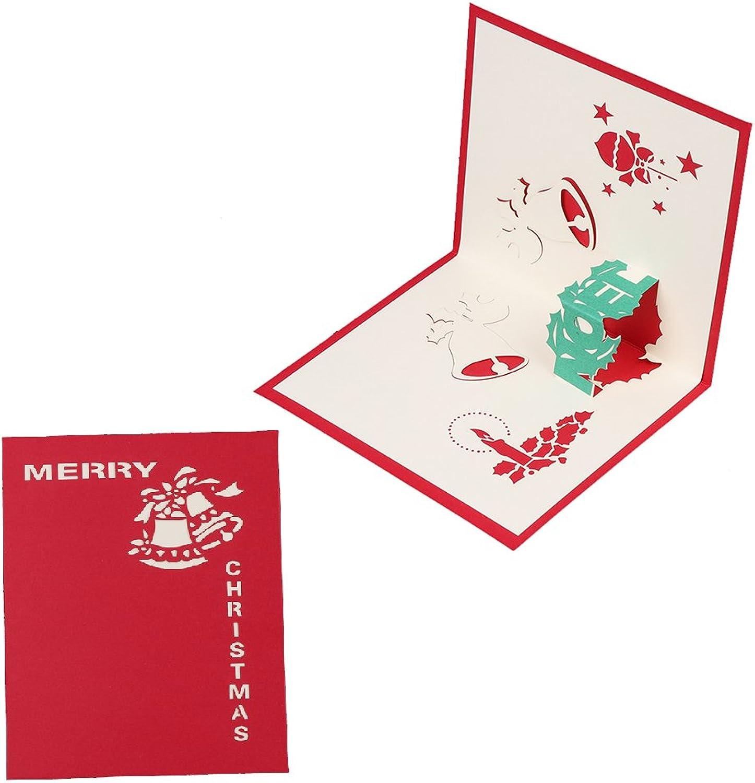 YOFO Handgefertigte 3D Pop-Up-Weihnachtskarte für Valentinstag, Geburtstag, Jahrestag, Festival, Einladung, Hochzeit, Liebesgeschenke B07GW2CSDL    | Große Klassifizierung