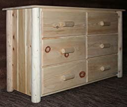 product image for Lakeland Mills Frontier Dresser w 6 Drawers, Clear