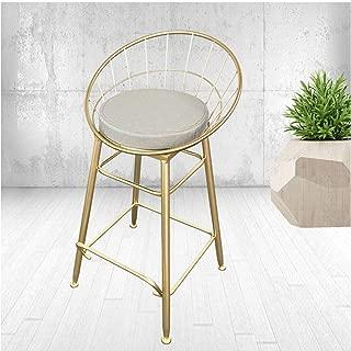 HX Bar Stool, Bar Stool High Stools Nordic Wrought Iron Modern Minimalist Bar Chair Home Creative Table Back Bar Stool 75 Sitting High Single Chair Bar Stool, Adjustable bar Stool, high Stool