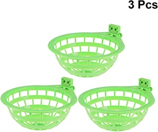 POPETPOP 3pcs Plastic Canary Nest-Bird Nest Plastic Hollow Hanging Cage Eggs Hatching Tool Pan Finch Parrot Canary Pigeon Nest Bowl