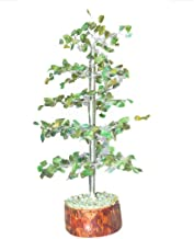 Crocon Gemstone Healing Tree Feng Shui Bonsai for Chakra Balancing Healing EMF Protection Crystal Energy Generator Spiritual Home Decor Size: 10 Inch Green Aventurine (Silver Wire)