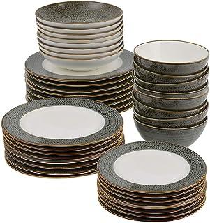 ProCook Napa - Vaisselle de Table en Porcelaine Blanche - 40 Pièces/Pour 8 Personnes - Petite Assiette, Grande Assiette, A...