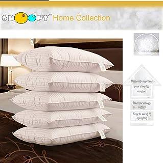 """Snoopy Ultra 5 Piece Satin Pillow Set - 17"""" x 27"""", Antique White"""