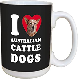 Tree Free Greetings LM44996 I Heart Australian Cattle Dogs Ceramic Mug with Full-Sized Handle, 15-Ounce