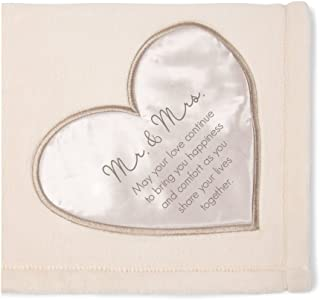 Pavilion Gift Company Soft Mr & Mrs Thick Warm Royal Plush Throw Blanket