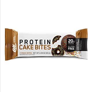 Optimum Nutrition Optimum Nutrition Protein Cake Bites/Whipped Protein Bars, Chocolate Frosted Donut (9 Count of 2.29 oz B...