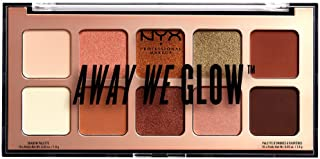 NYX Professional Makeup Away We Glow Shadow Palette, Hooked On Glow 02