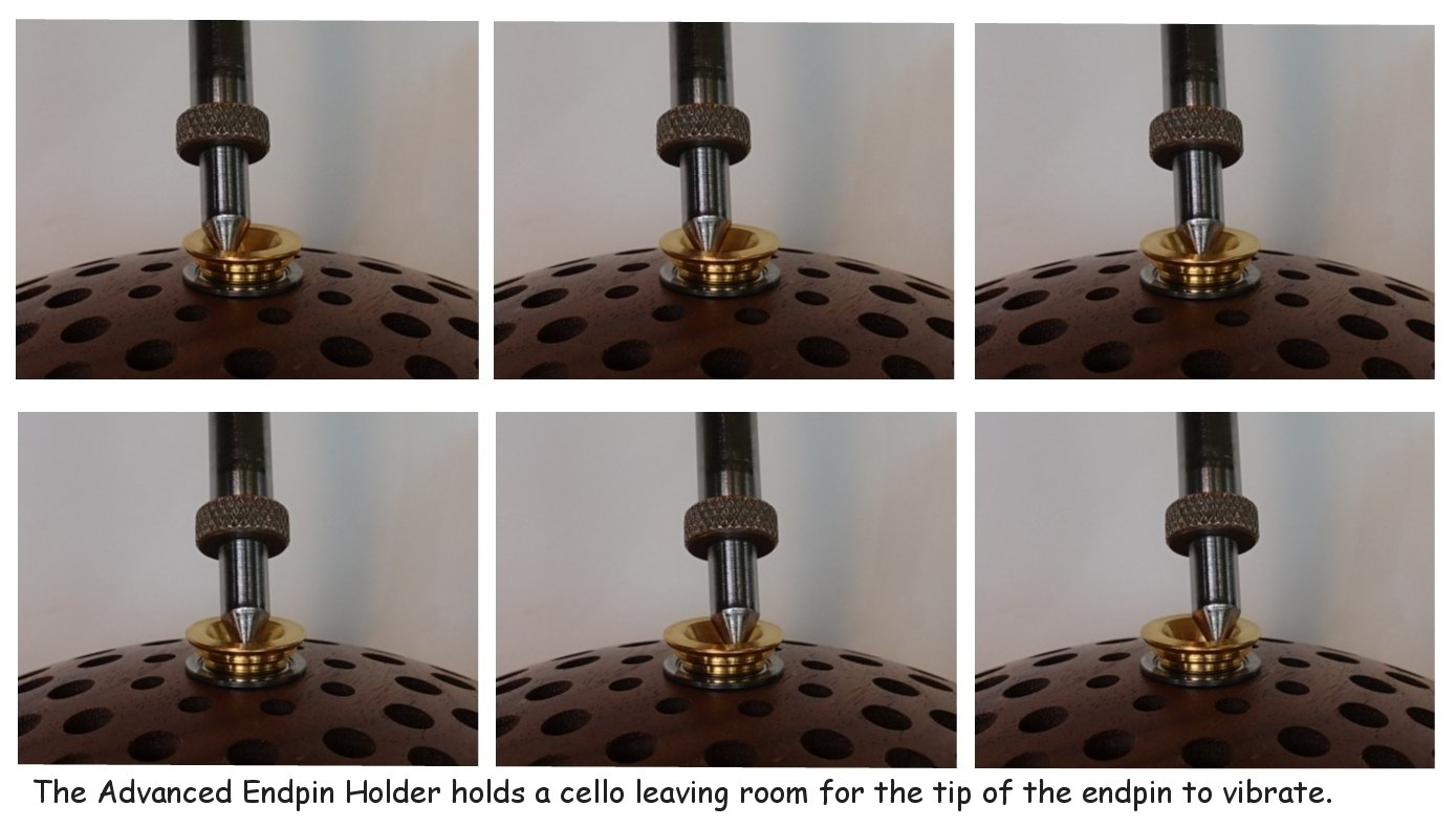 Advanced Endpin Holder for Cello AEH-012 WALNUT-black