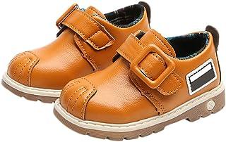 [MyMei] シューズ 靴 ベビーシューズ 合成皮革 ベビー 子供用 男女兼用 通学 カジュアル 防水 柔軟性 滑り止め 脱着便利