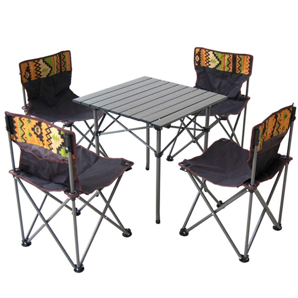 - LSJT Folding Table Chair Set Combination Aluminum Table Chair 5