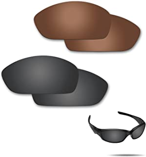 Fiskr Anti-Saltwater Polarized Replacement Lenses for Oakley Straight Jacket 2007 Sunglasses 2 Pairs Packed