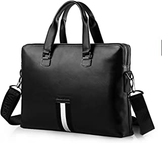 "Men's Accessories Man's Portable Business Briefcase 14"" Laptop Handbag Shoulder Messenger Satchel Casual Bag Organizer Black Outdoor Recreation"