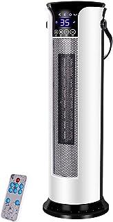 QQLK 2000W Calefactor CeráMico De Torre Oscilante, con Control Remoto, 3 Tiempos Ajustables, 12 Horas, Silencioso,Remote