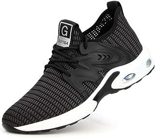 ERLINGO Chaussures de sécurité légères pour homme et femme - Absorption des chocs - Embout en acier - Antidérapantes - Rés...