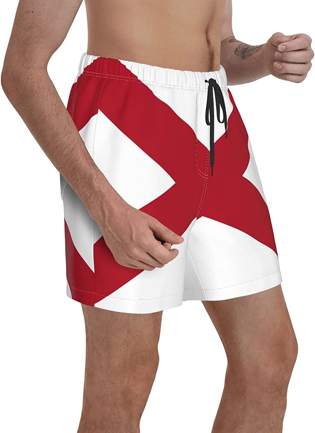 count Afro American Flag Men's 3D Printed Funny Summer Quick Dry Swim Short Board Shorts with