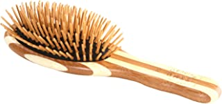 BASS BRUSHES Bamboo Wood Hair Brush Small Oval