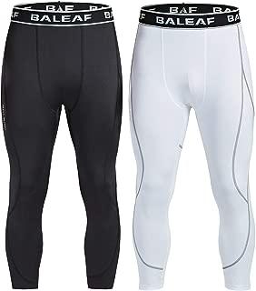 Baleaf Men's 3/4 Compression Pants Running Tights Sports Leggings Quick Dry Baselayer