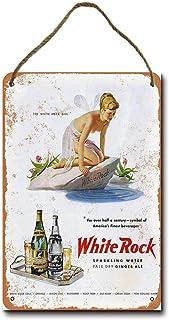 Placa decorativa de madera con agua espumosa y ginger Ale de mefoll White Rock 20.3 cm x 30.5 cm