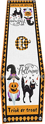 2021 RiamxwR Halloween Table Runner Creepy Halloween Tablecloth new arrival Satin Linen Table Bookshelves Covers for Halloween 2021 Home Party Decorations (Style C) outlet sale
