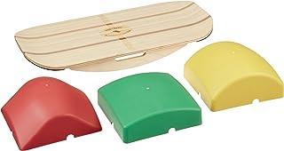 ブループラネットバランスサーファーバンブー木製バランスボードトレーナー、オフィス、ジム、ホーム向け|スタンディングデスク、サーフィン、SUP、ヨガ、エクササイズに最適!