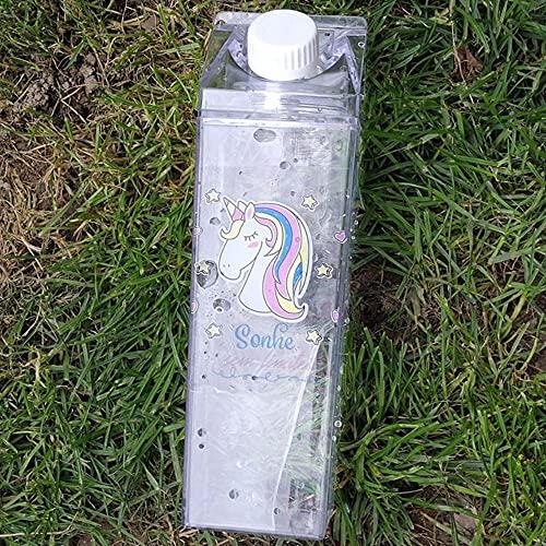Píldoras Suplementos vitamínicos H2o Infusión de frutas Botella de agua Organizador Infusor Exterior Leche Dibujos animados Batido Vaso Batidoras Botellas-China, 500 ml, color 9